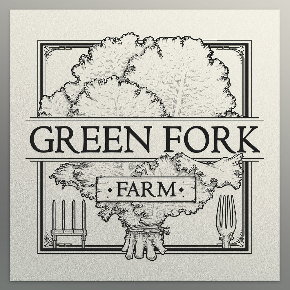 Green Fork Farm Logo Design