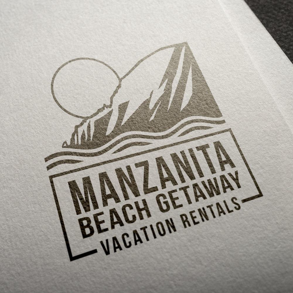 Manzanita Beach Getaway Logo Design