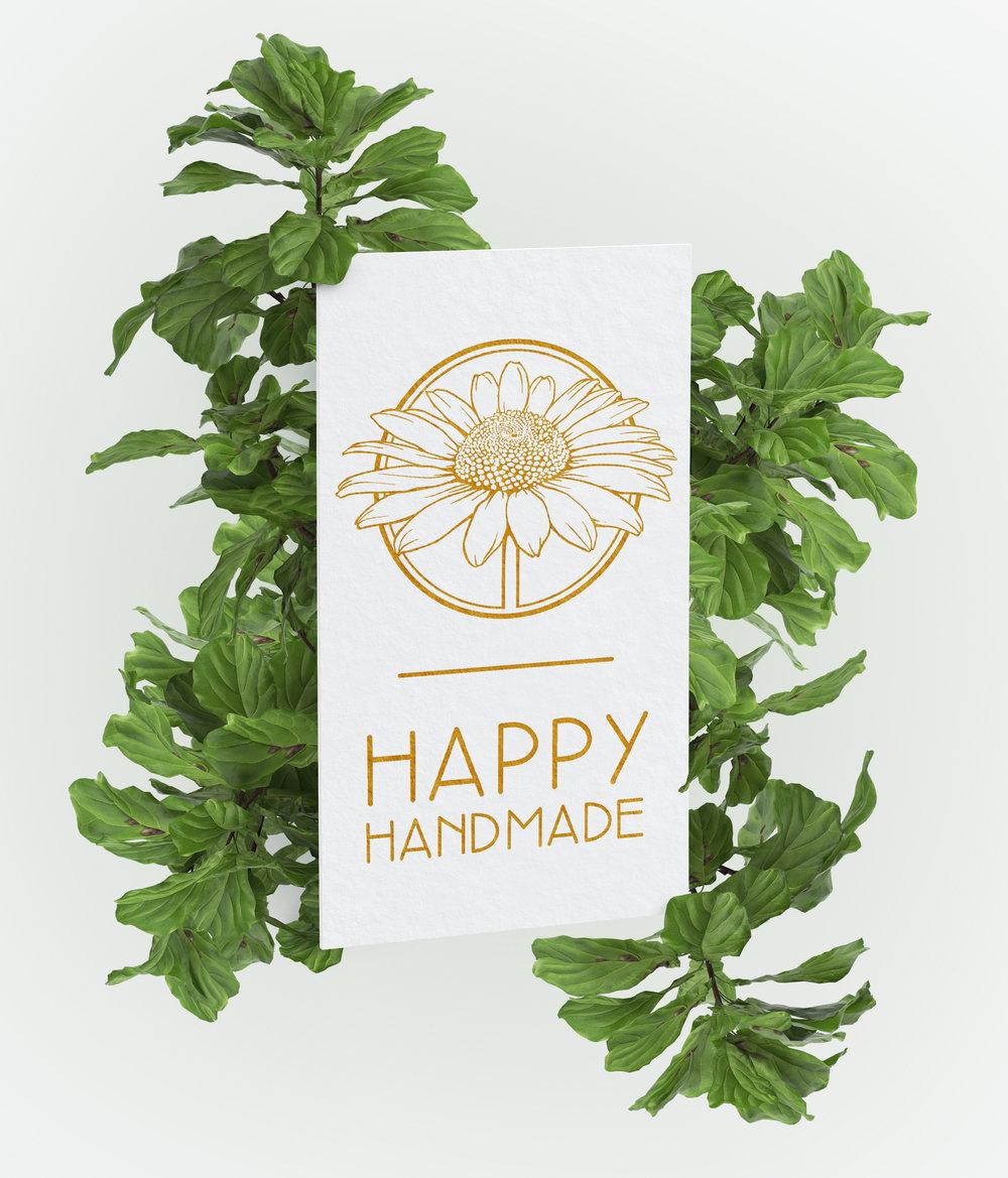 Happy Handmade Logo Design