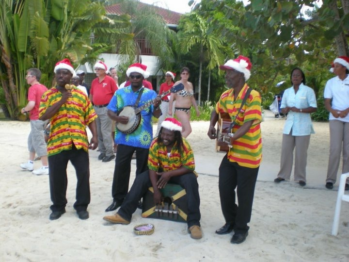 Festive Christmas Band at Couples Swept Away in Negril, Jamaica