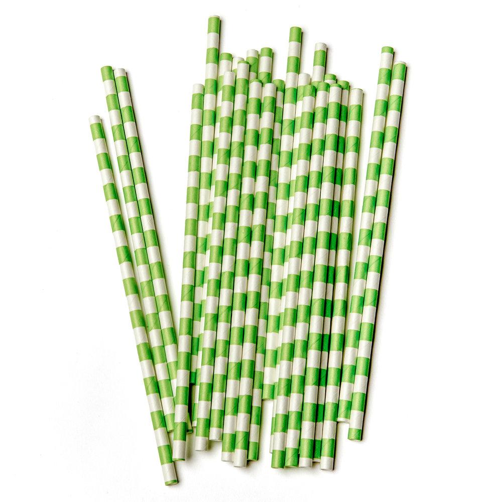 Copy of ljusgröna och vitrandiga sugrör