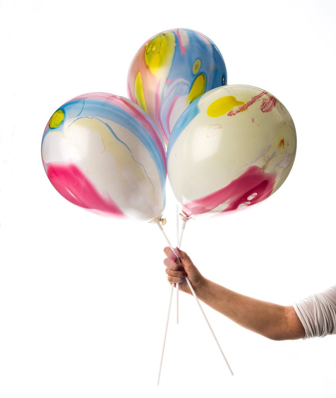 Marmorerade ballonger