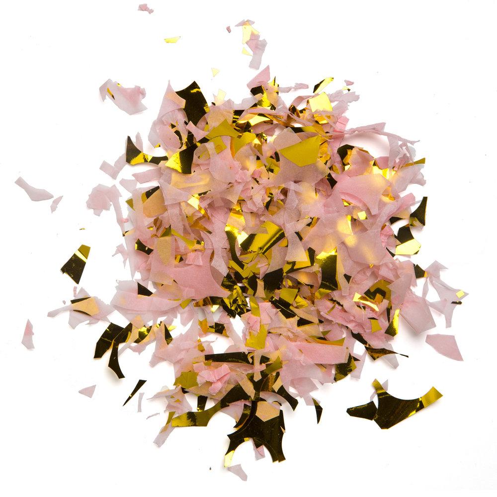 Guld rosa konfetti