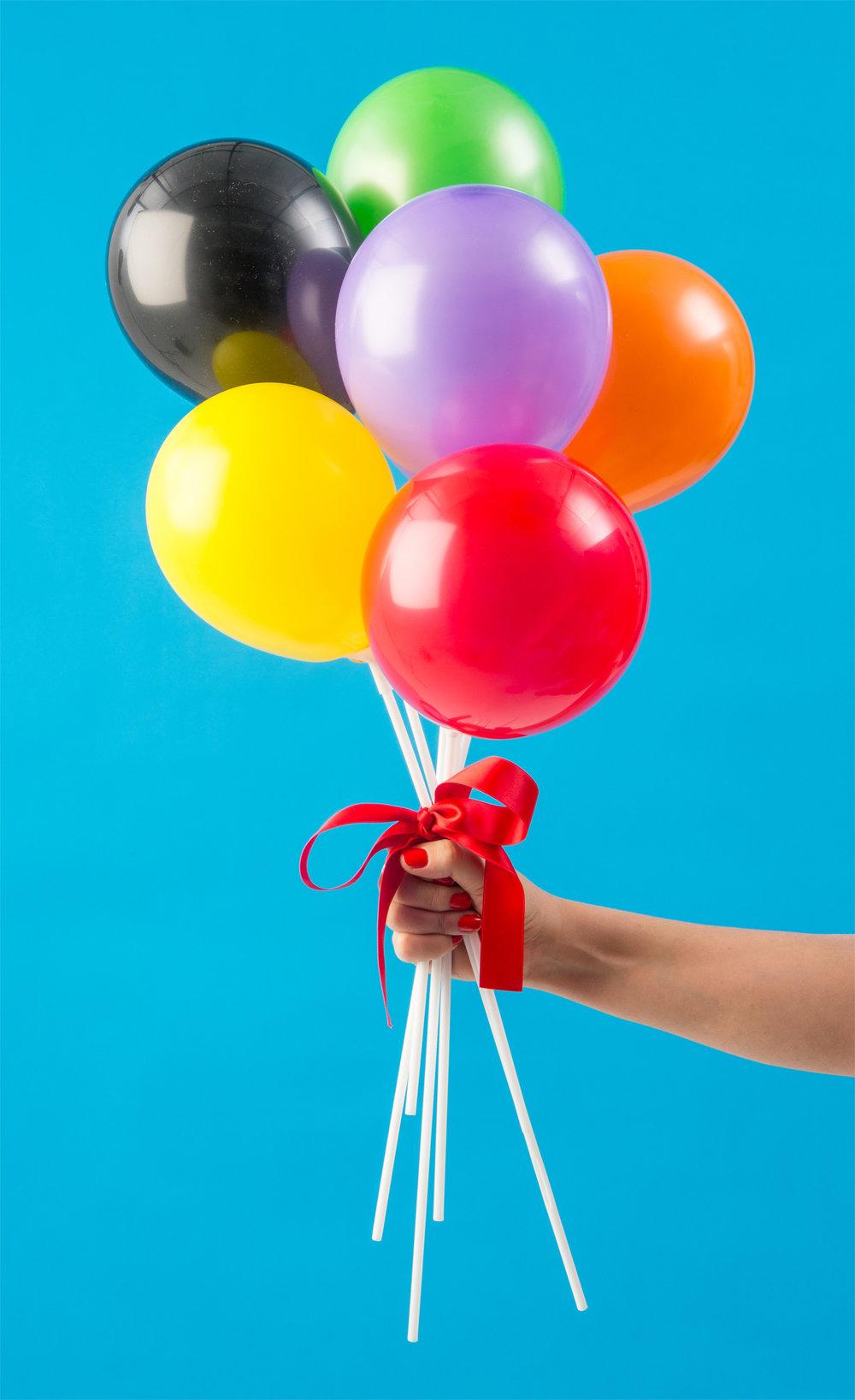 Miniballonger som ballongbukett