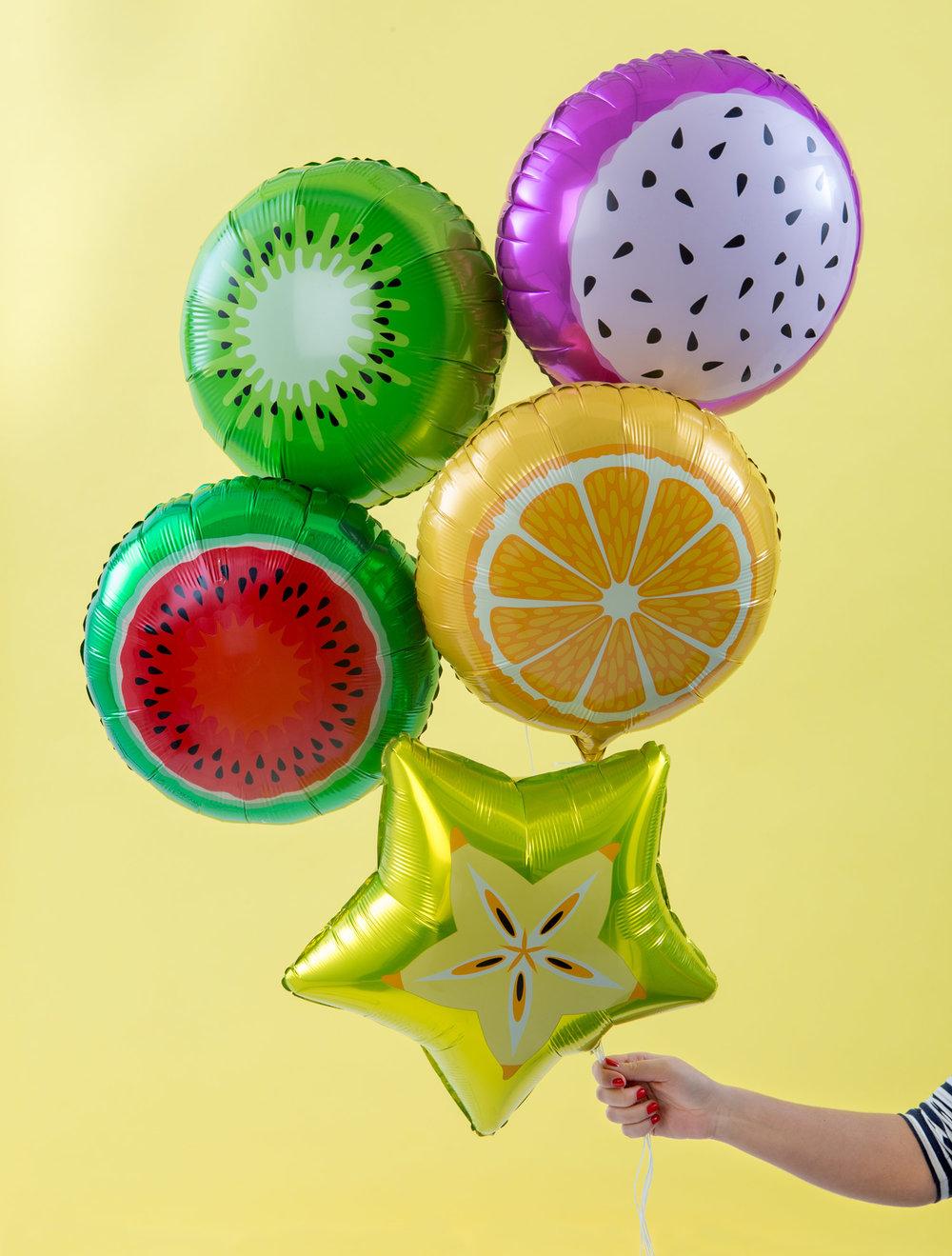 Vitaminkicka partyt med våra fruktballonger