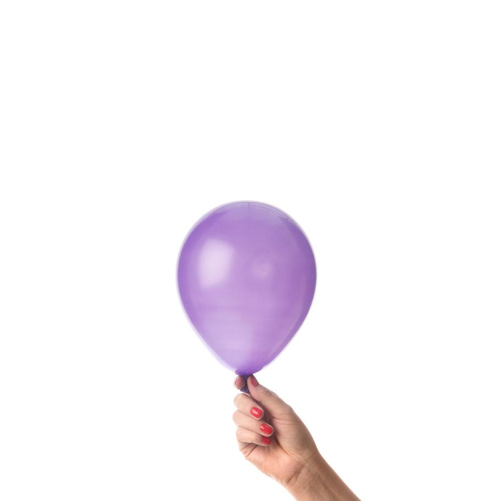 Lila miniballonger