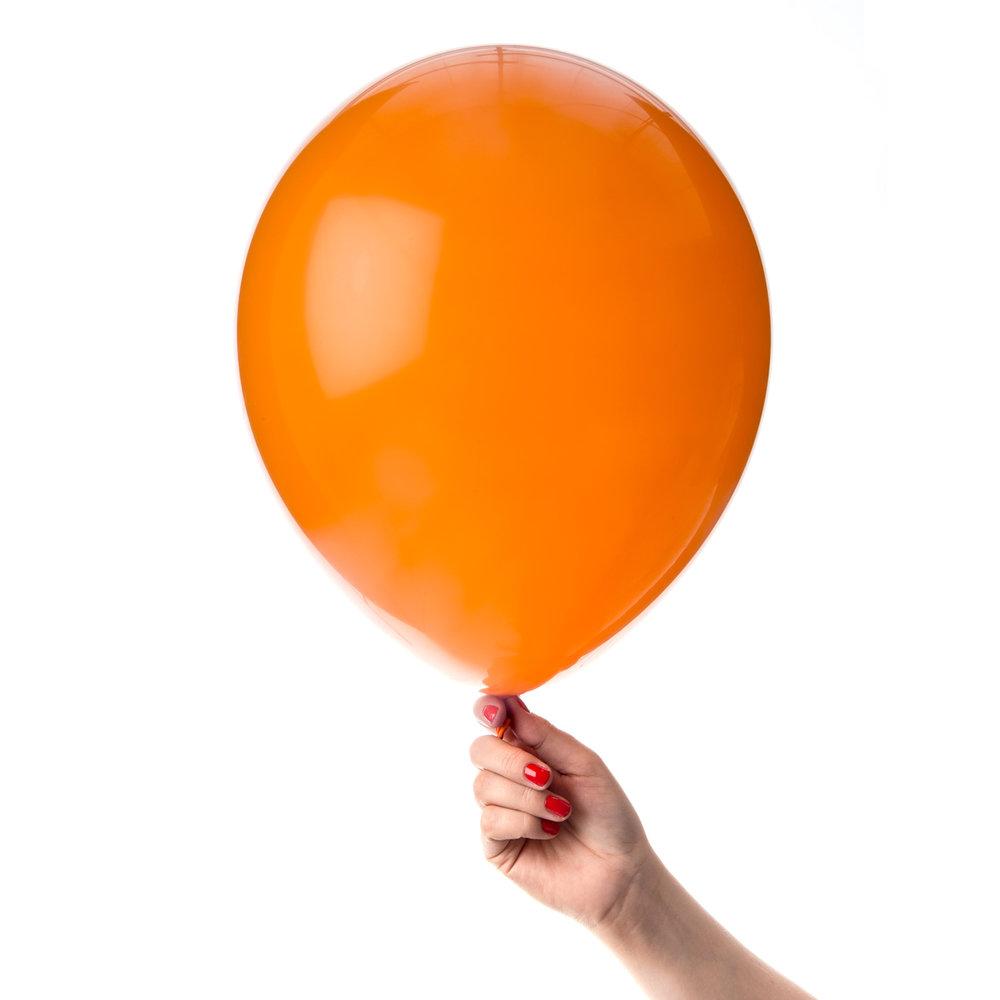 Orange ballong