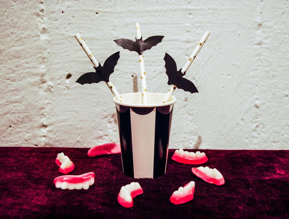 Fladdermöss till sugrör till Halloween