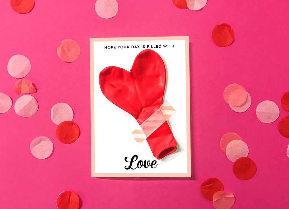 Alla Hjärtans Dag kort, ballongkort