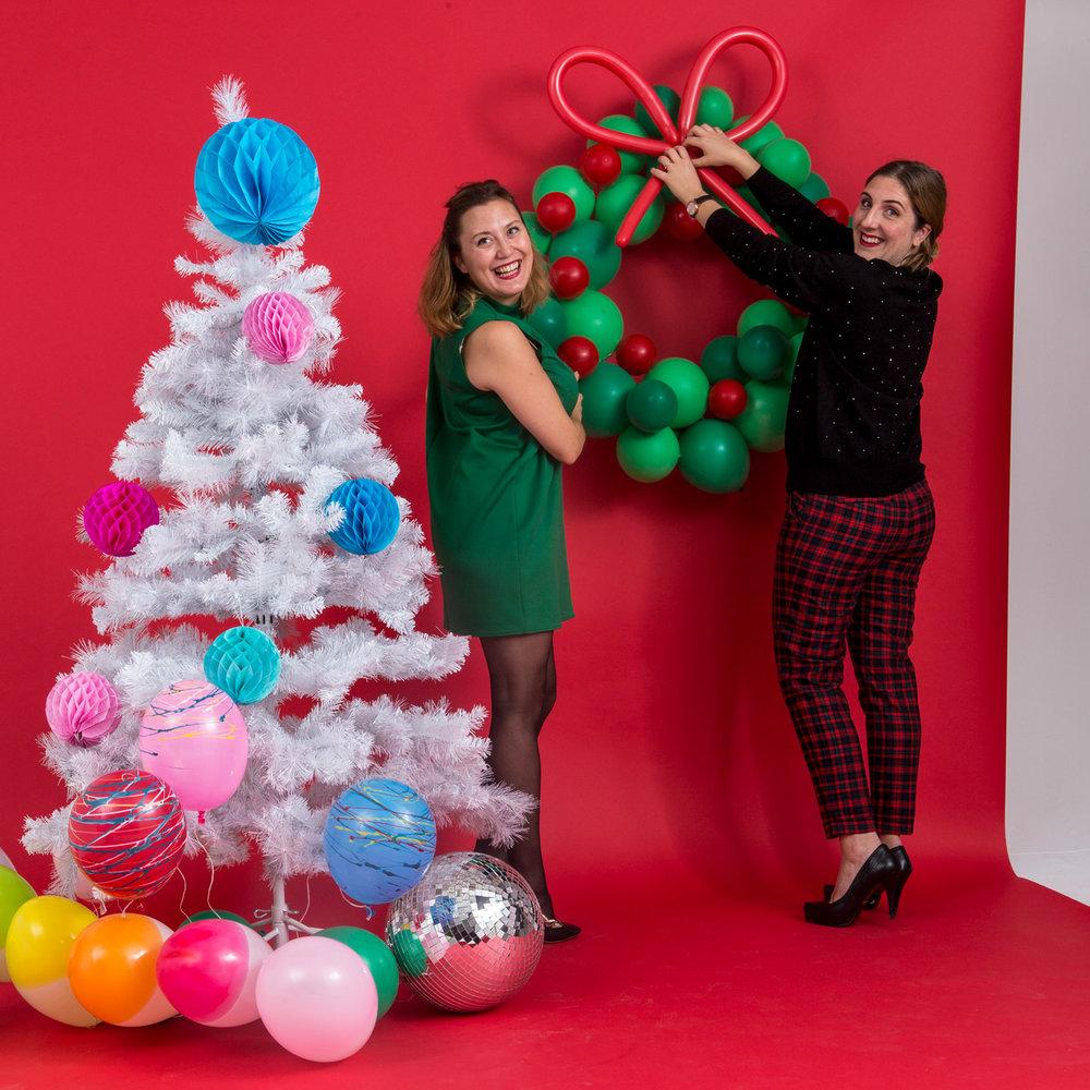 julkrans av ballonger