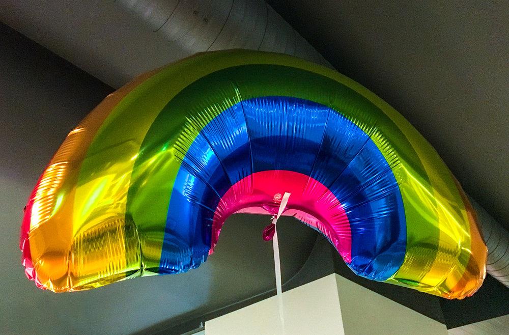 regnbågsballong