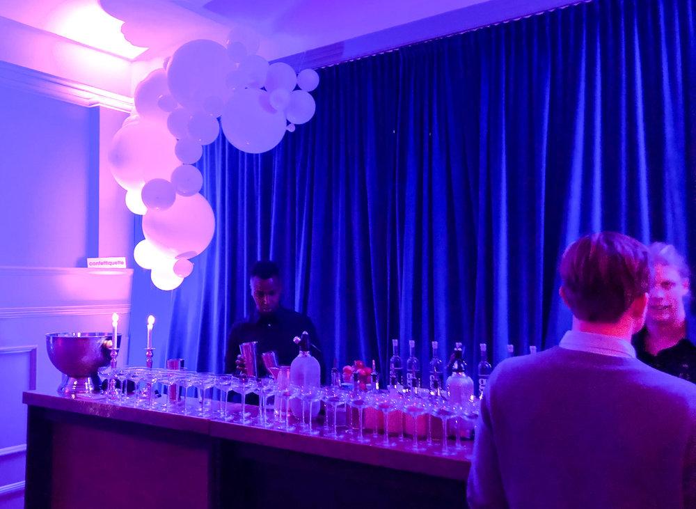 Ballonginstallation på Eriksberg Catering