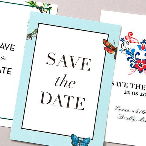Save the Date med fjärilar