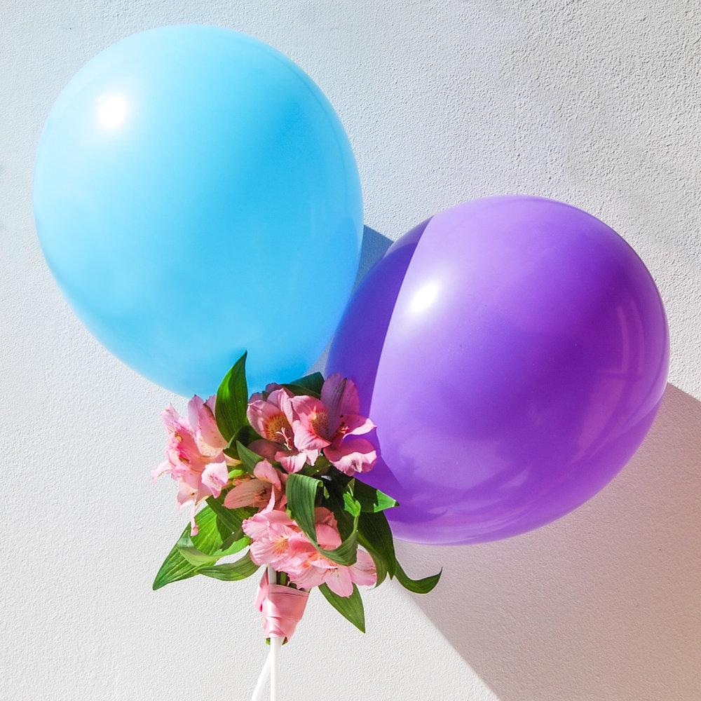 Ballonger med blommor