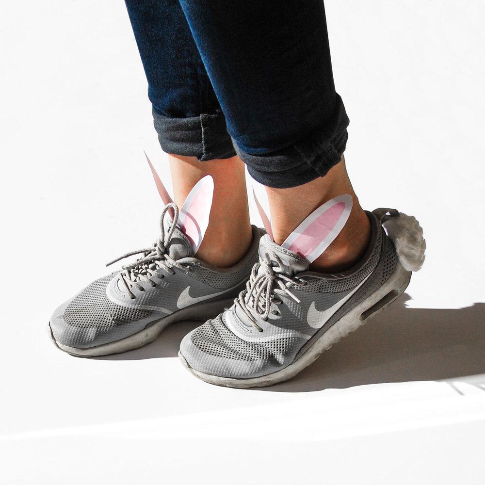 sneakers med kaninöron