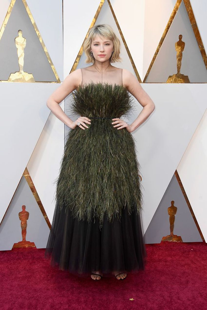 Oscars dress Haley Bennett