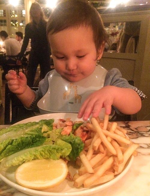Dagge mycket nöjd med sin middag på Chiltern Firehouse