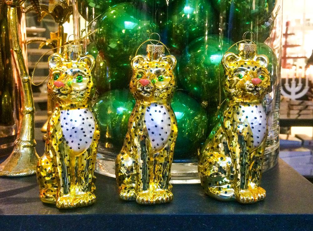 leopard julgranskulor