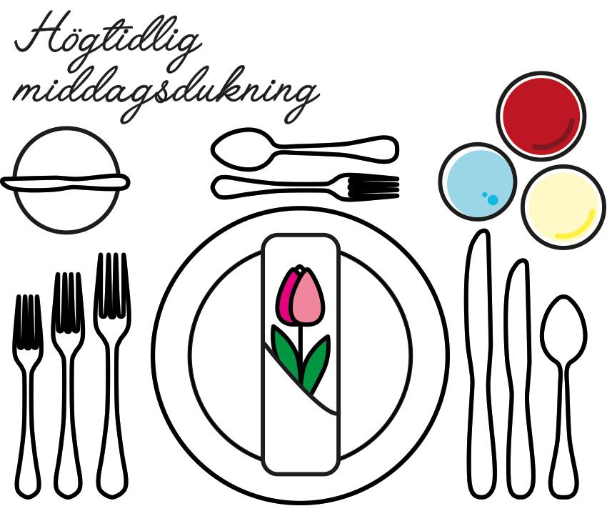 högtidlig middagsdukning