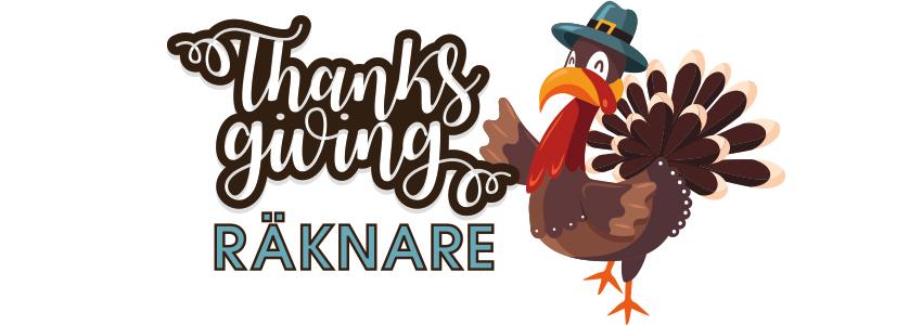 thanksgiving räknare