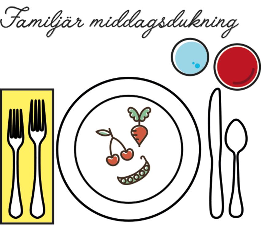 familjär middagsdukning