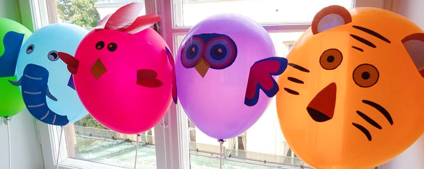 djur ballonger