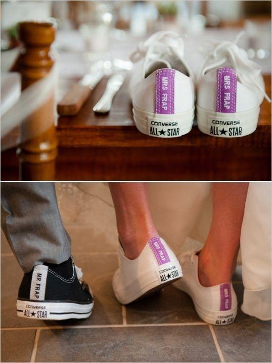 converse som skräddarsydda bröllopsskor