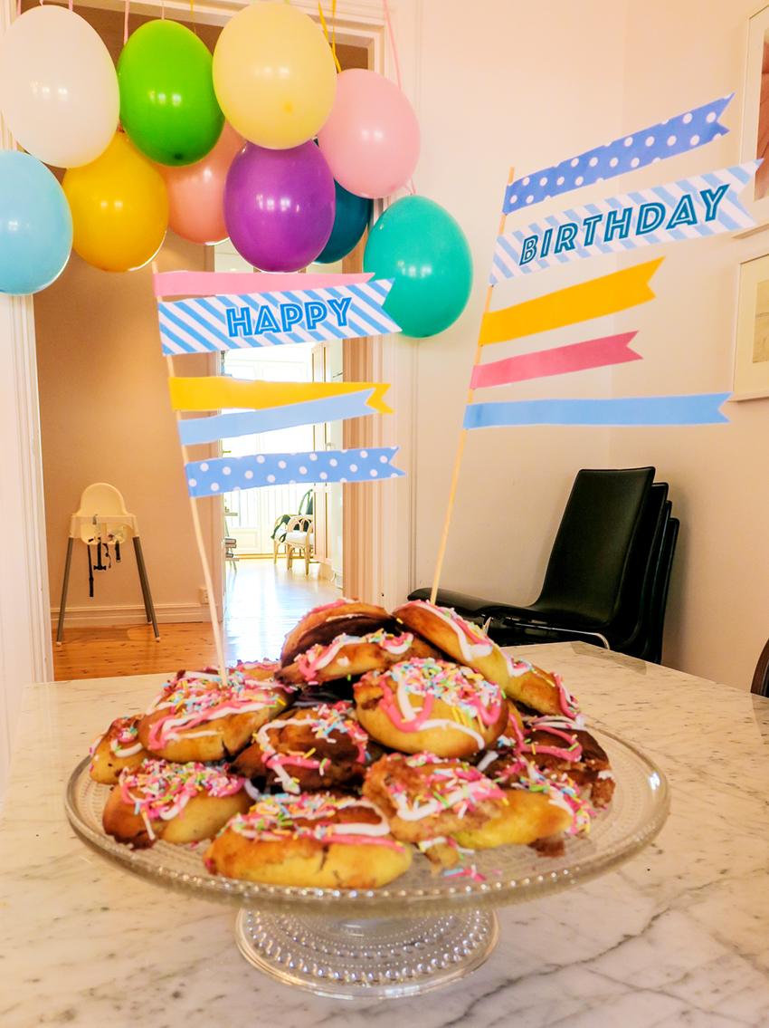 happy birthday kakdekoration