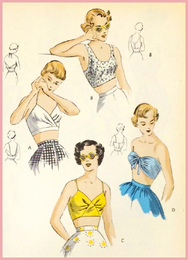 Älskar denna bild från Vogues mönster katalog 1949.