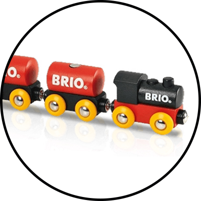 tips på doppresenter Brio trätåg