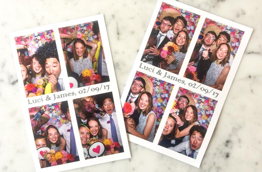 bilder från photo booth på engelskt bröllop i Surrey