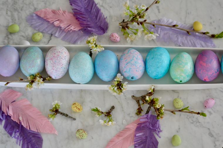 marmorerade ägg till påsk