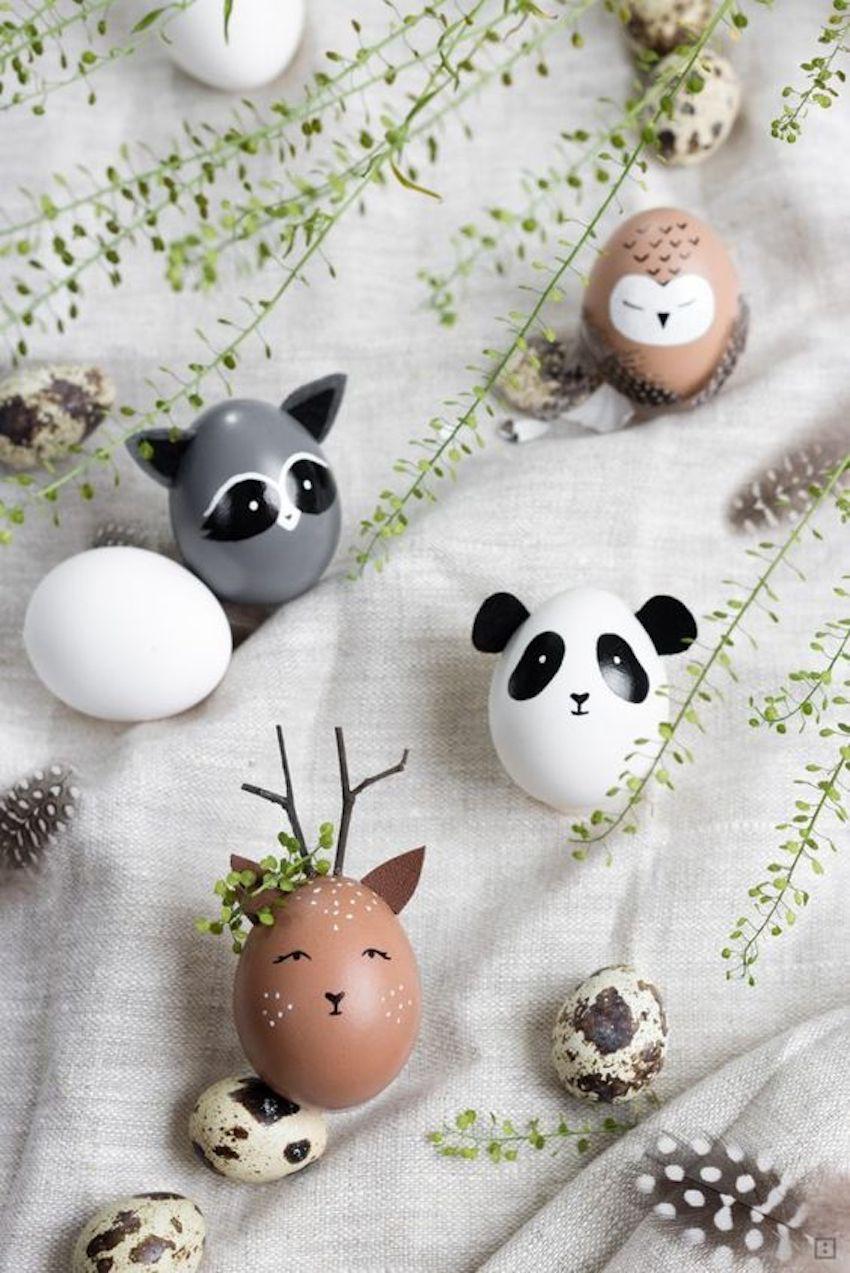 Enkla och supergulliga djur-ägg till påskdekorationen