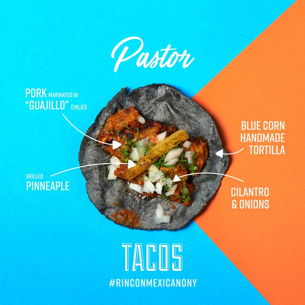 Tacos Pastor Rincon Mexicano New York