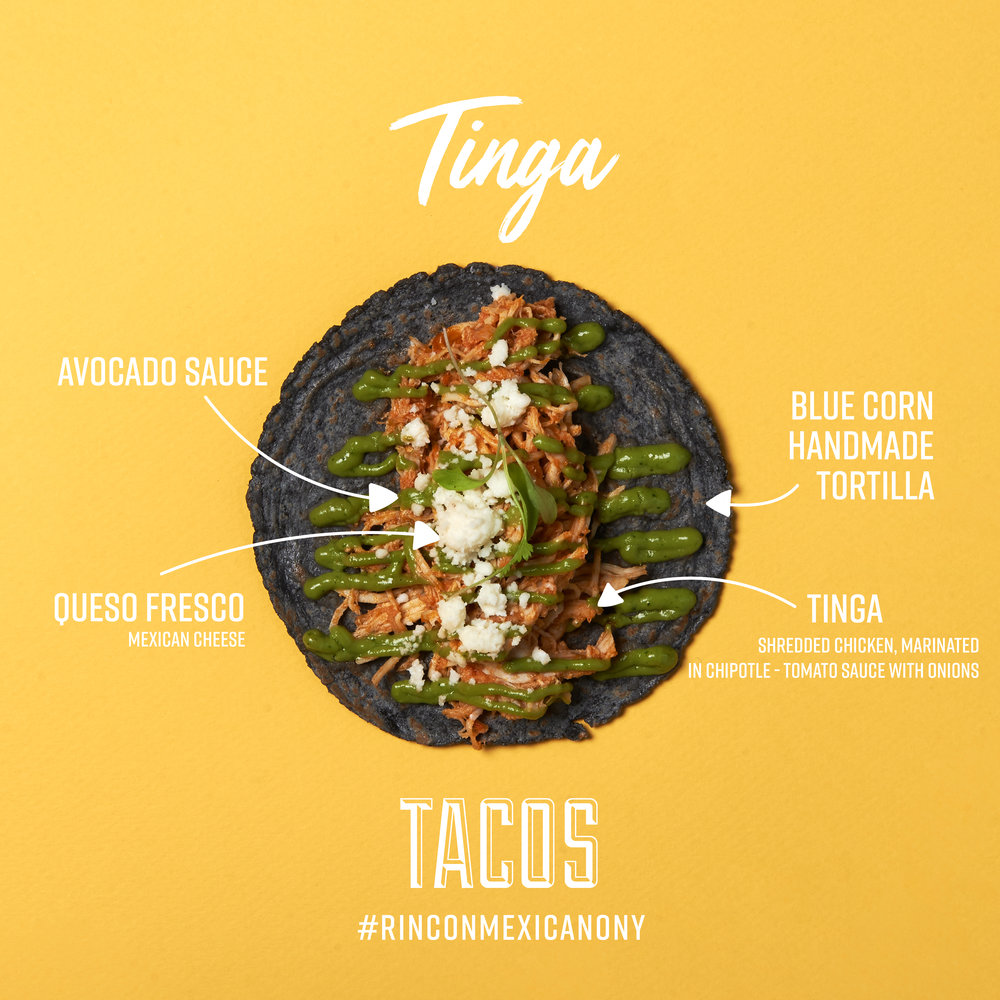 Tinga Tacos Rincon Mexicano New York