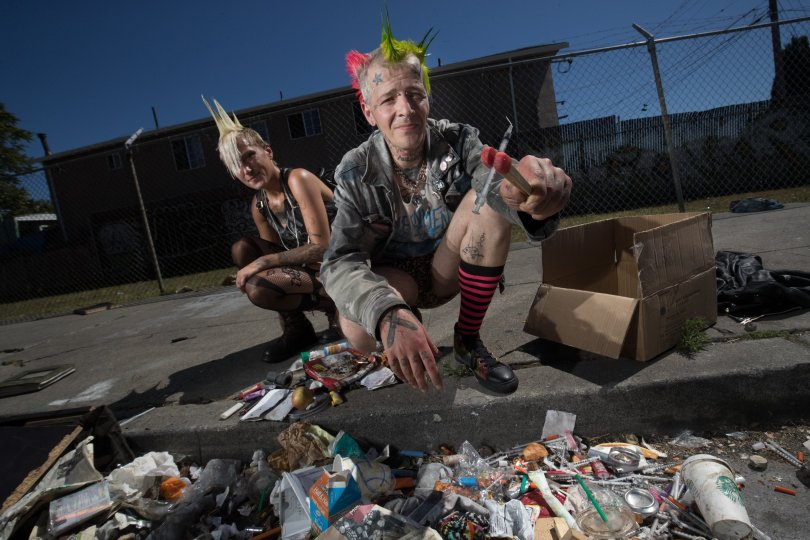 East Bay Times - Punks reach out to aid West Oakland's homeless