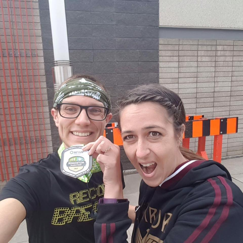 - Picture from the 2017 Edmonton 1/2 Marathon, where I set a new personal record!