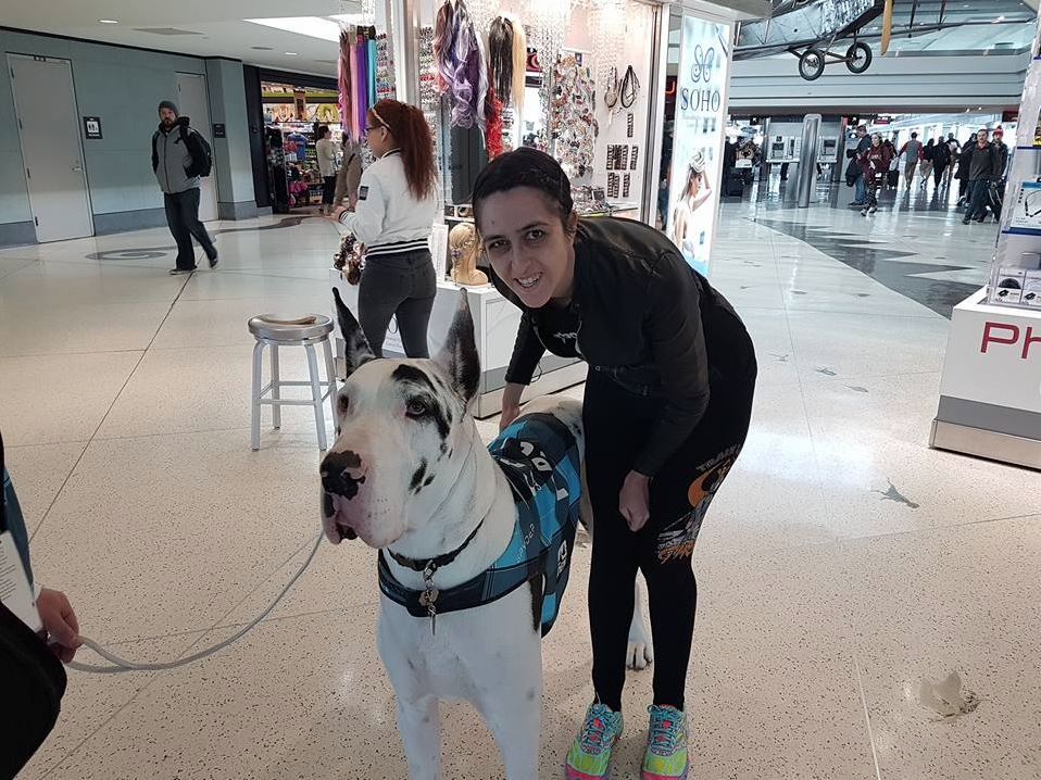 - Bonus pic - Erin's new best friend she met at the Denver airport!