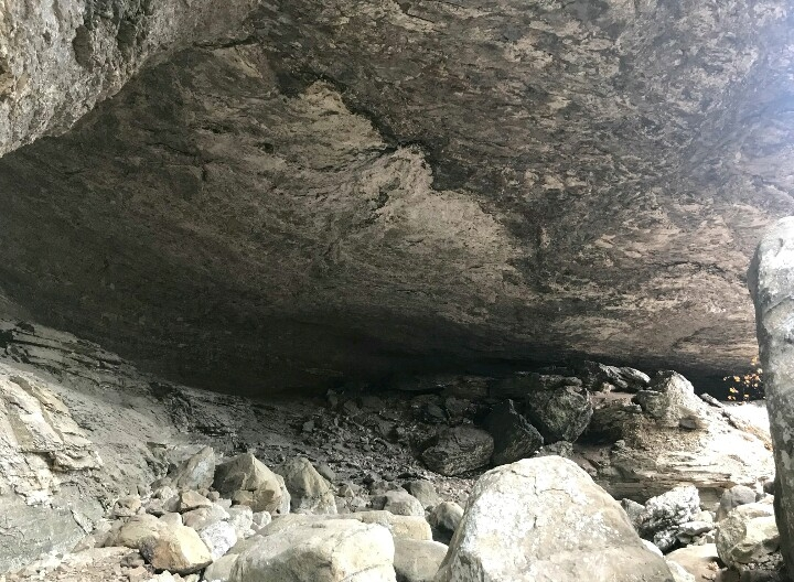 View from the north side of Cobb Cave. It's huge!
