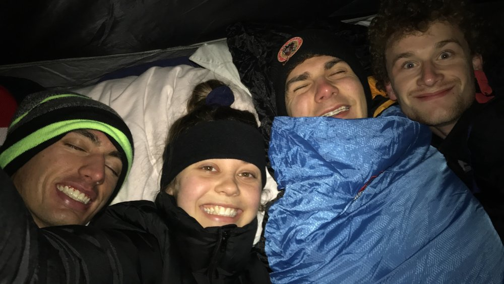 We may look warm and cuddled up (and gross) in this picture, but we're actually dying.