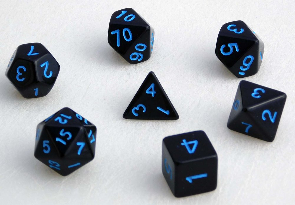 Standard Dice Set - Blue