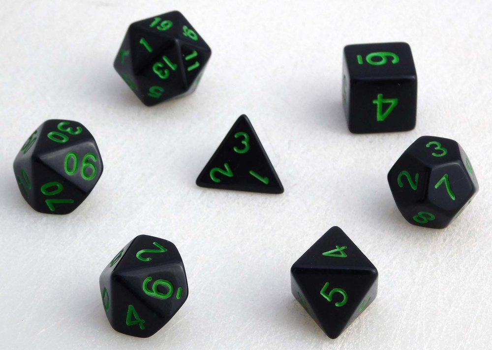 Standard Dice Set - Green