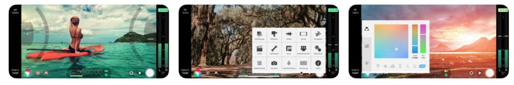 FilmicPro screengrabs: Apple APP Store