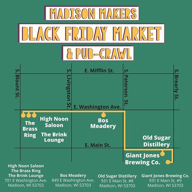 I'll be at the Madison Makers Market this Friday! Stop by at the Brink Lounge for some plant crafts to give as gifts! 🌿🎄