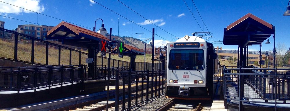 Quick commuting to downtown Denver for Golden, Colorado on the RTD Light Rail Train