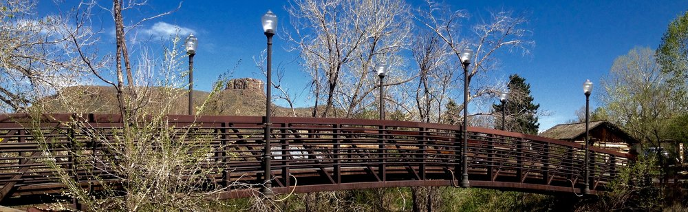 Clear Creek Park Foot Bridge near Downtown Golden, Colorado