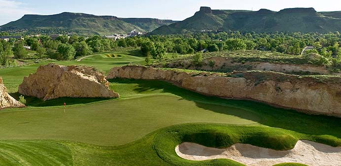 Fossil Trace Village homeowners have easy access to the Fossil Trace Golf Course in Golden, Colorado