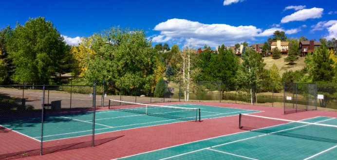 Genesee Village Condo residents share a community clubhouse, great fitness facility, children's playground, swimming pool, ponds and tennis courts