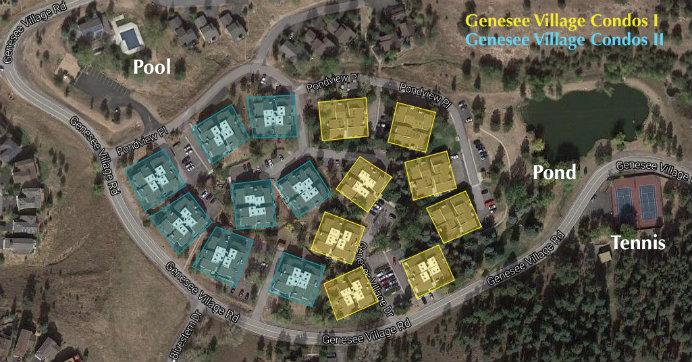 Genesee Village Condos Site Map. Great Condo community near Golden, Colorado