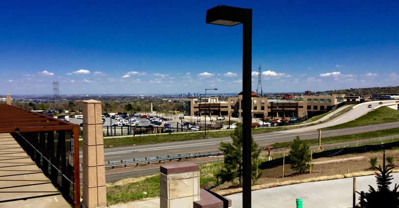 The new RTD light rail train station is just a 10-minute walk from the Heritage Village Townhomes in Golden, Colorado